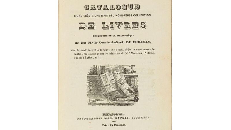 De catalogus van de graaf van Fortsas, 1840