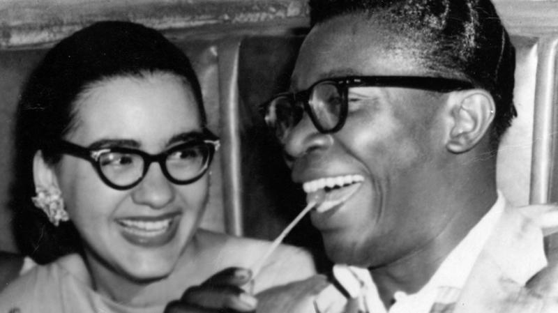 B.B. King met zijn tweede vrouw Sue Evans