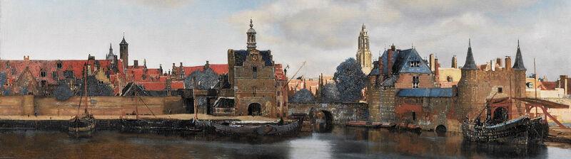Johannes Vermeer: Gezicht op Delft, detail (ca. 1660)