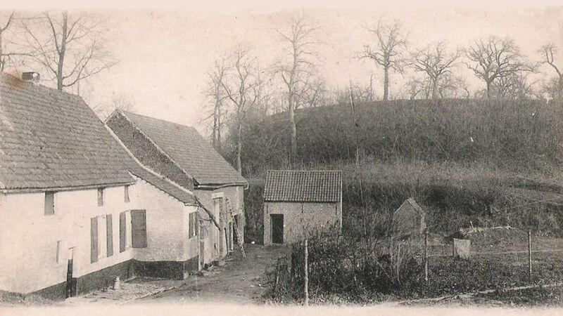 Oude foto van het gehucht Borgt