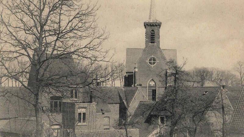 Het gehucht Borgt met het kleine Sint-Salvatorkerkje