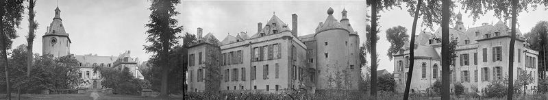 Oude foto's van het Prinsenkasteel (voor-, achter- en zijgevel)