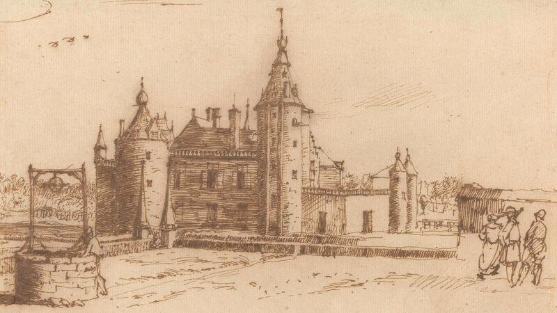 Tekening van het kasteel van Grimbergen, 1676