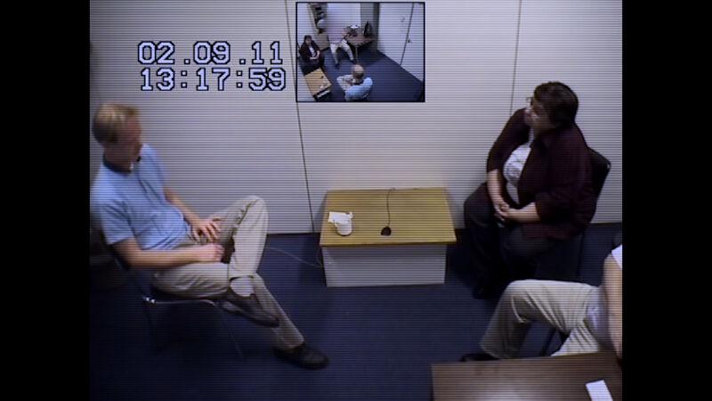 Videoverhoor verdachte Tijl Teckmans door Hedwig Van der Velden, speurder federale politie