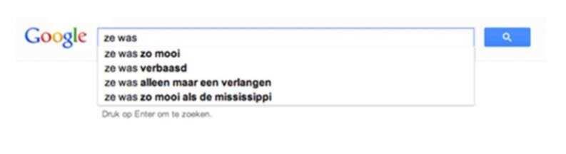 Google in een poëtische bui