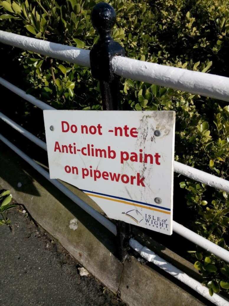 Anti-Climbing