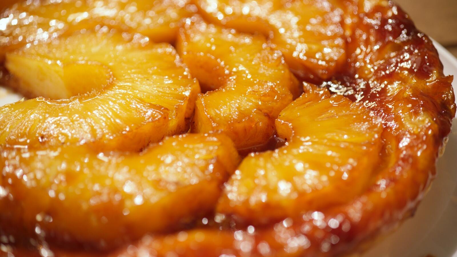 Tarte tatin van ananas