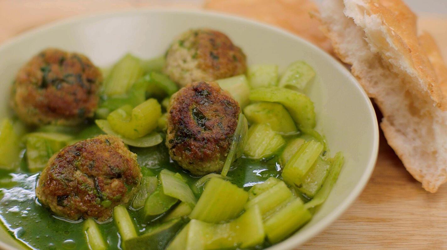 Fusion meatballs met groene groenten