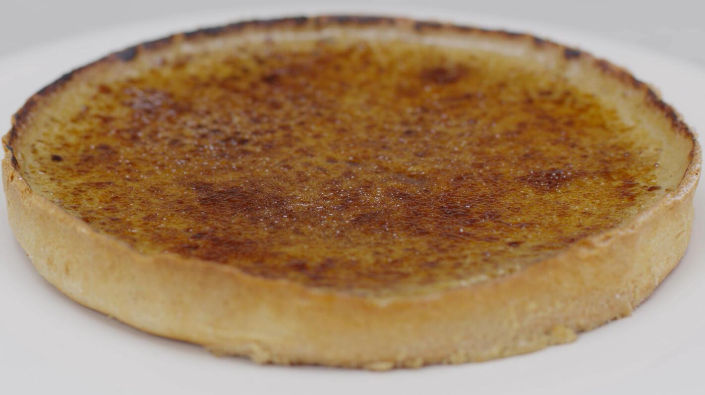 Crème brûléetaart 'koffie verkeerd'