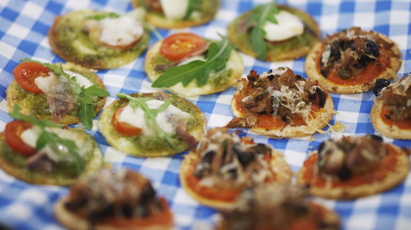 Mini-tortillapizza's
