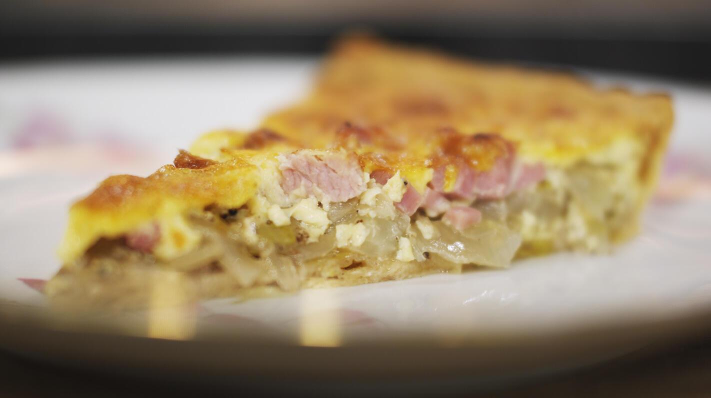 Quiche met witloof, ham en cheddar   Dagelijkse kost