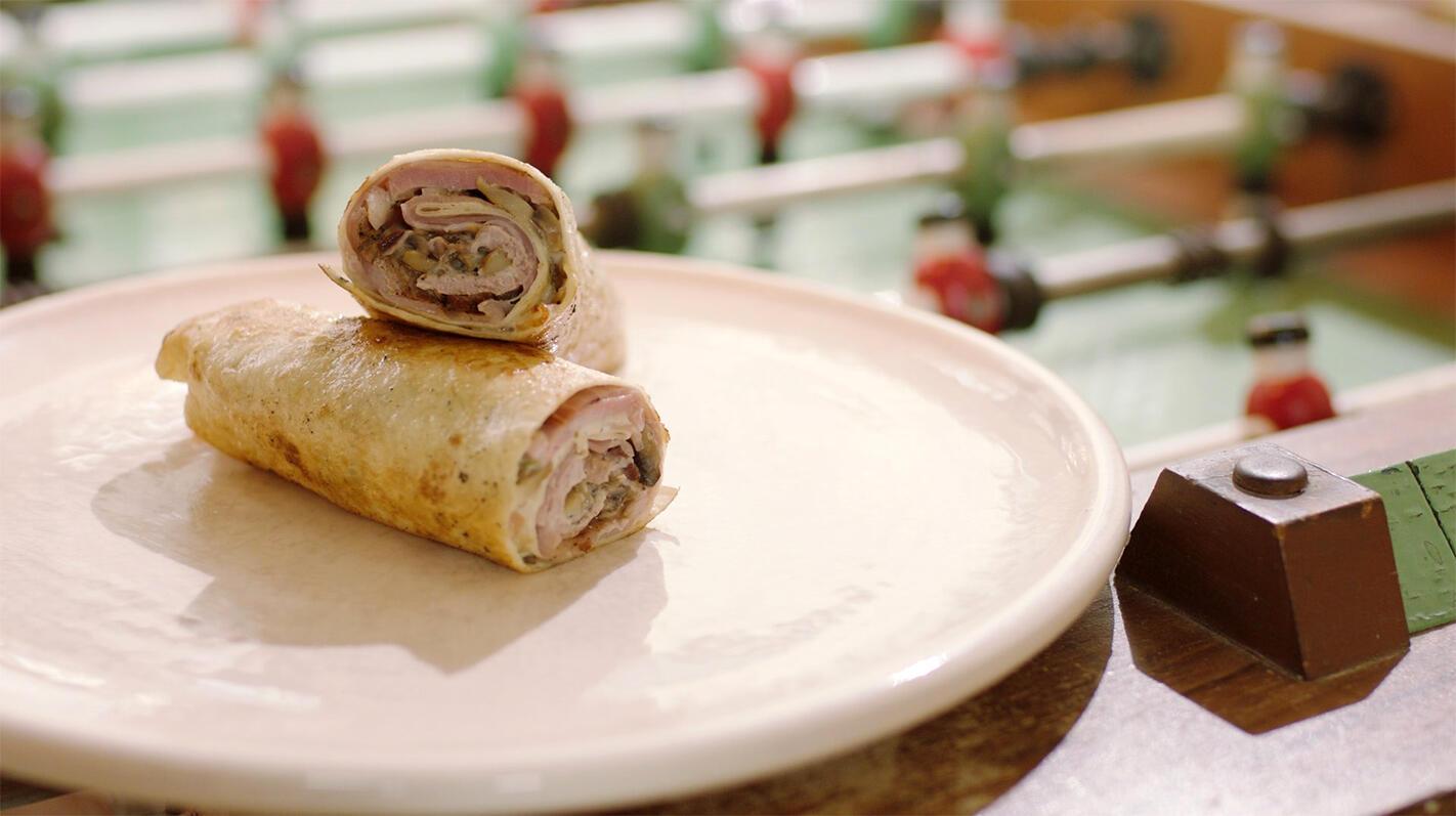 Wrap met varkensvlees