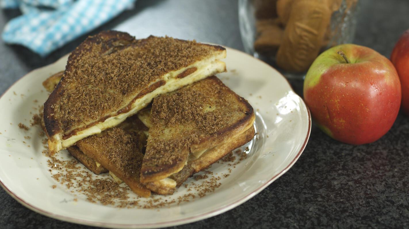 Verloren brood met appel en speculaas