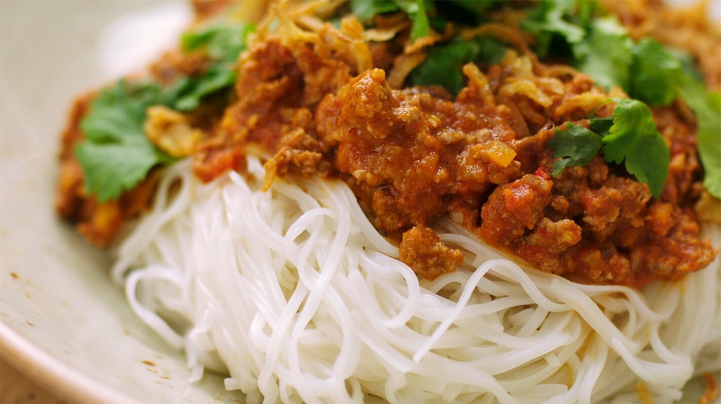 Spaghetti bolognaise op z'n Thais