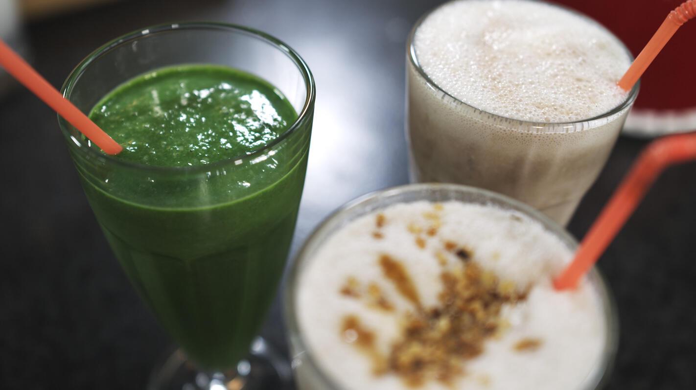 Milkshakes: banana split, boterkaramel en spinazie-basilicum