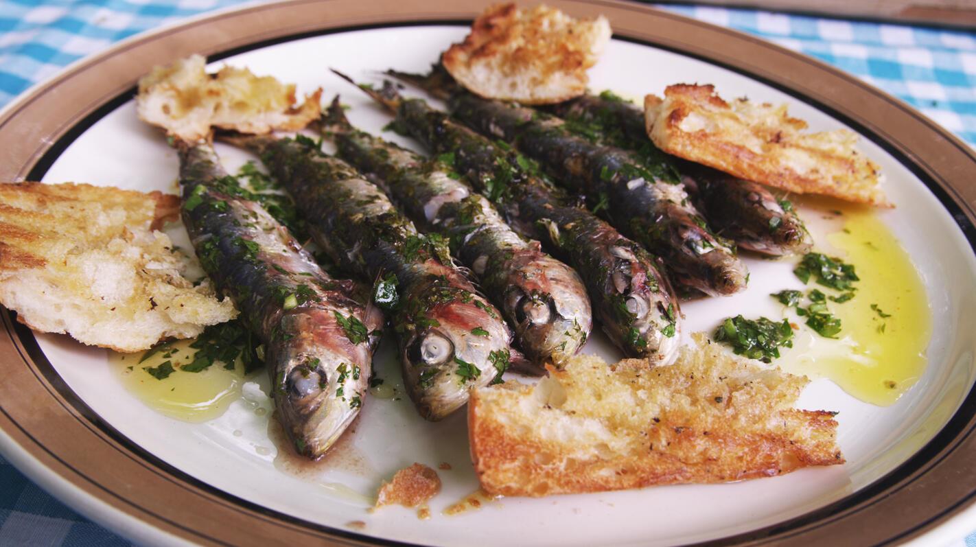 Sardines op de barbecue