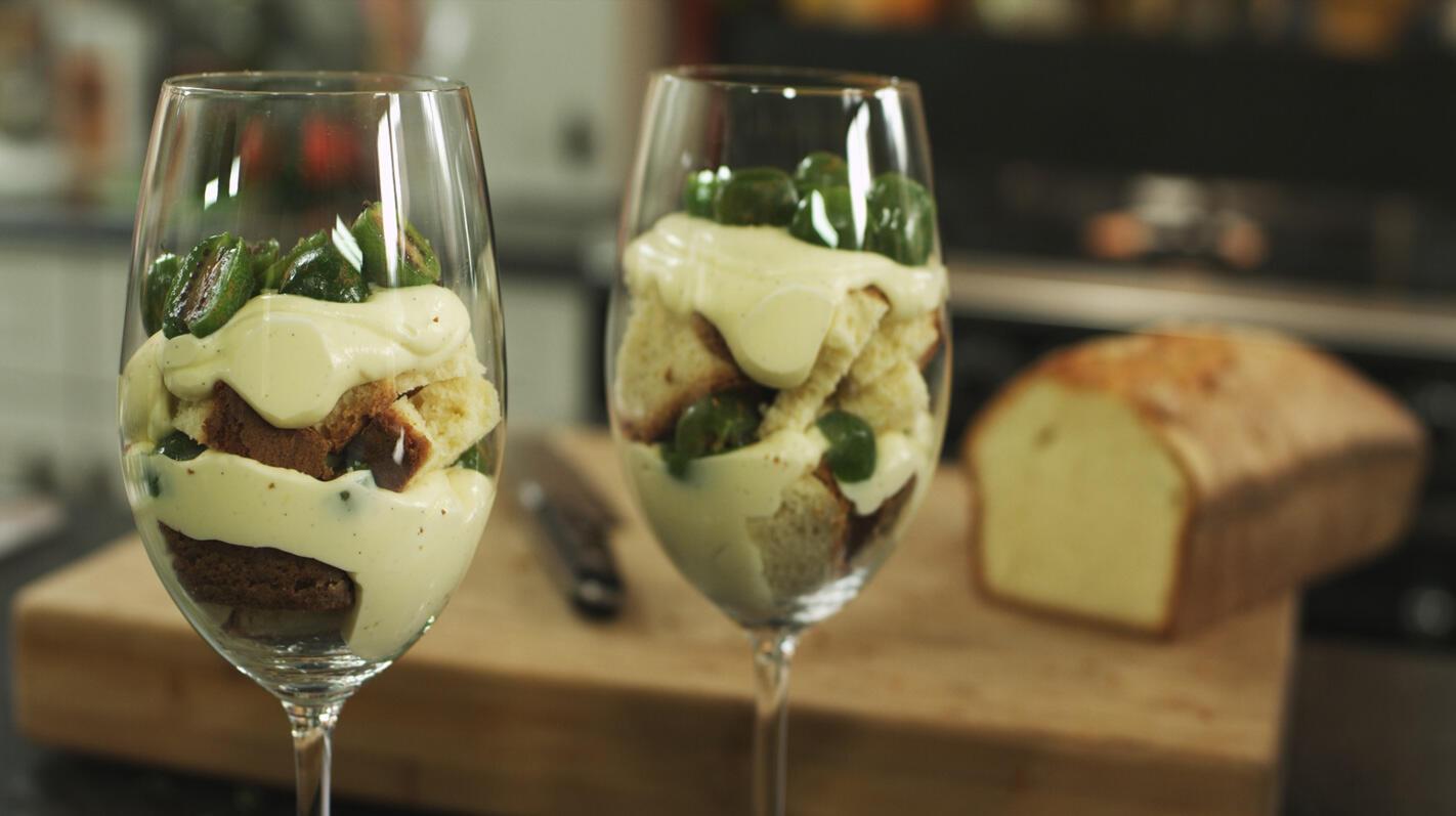 Trifle met kiwibessen