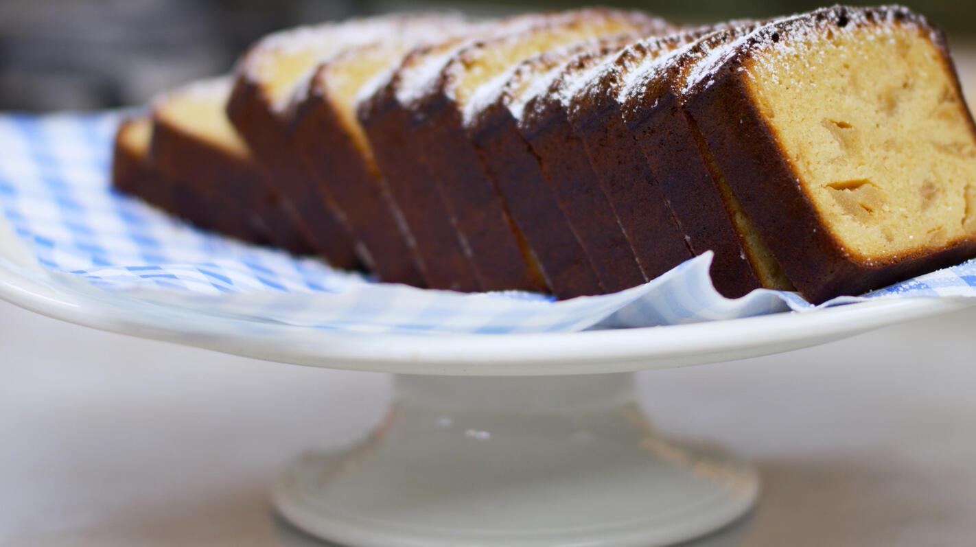 Glutenvrije amandel-appelcake