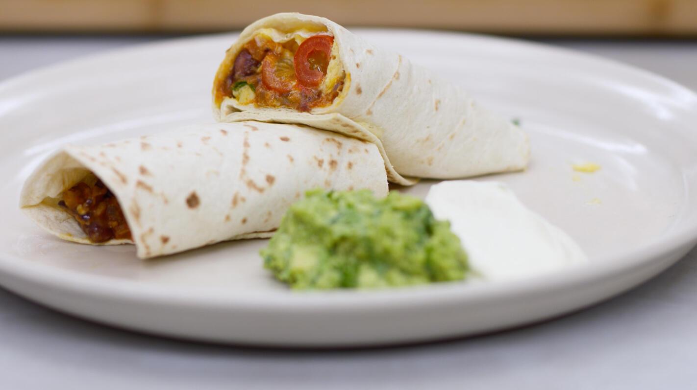Mexicaanse (ontbijt)burrito's