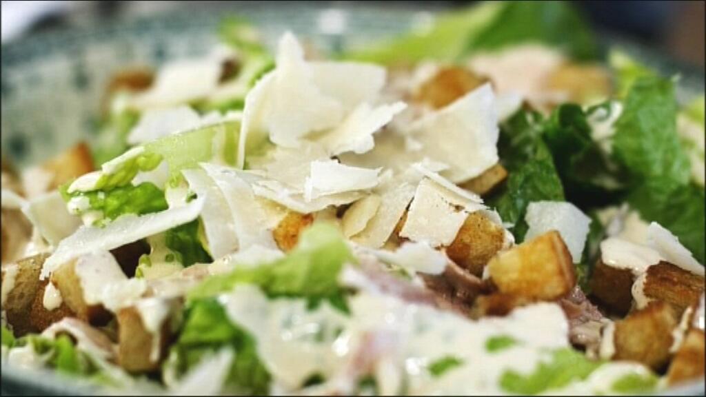 caesar salade recept met kip