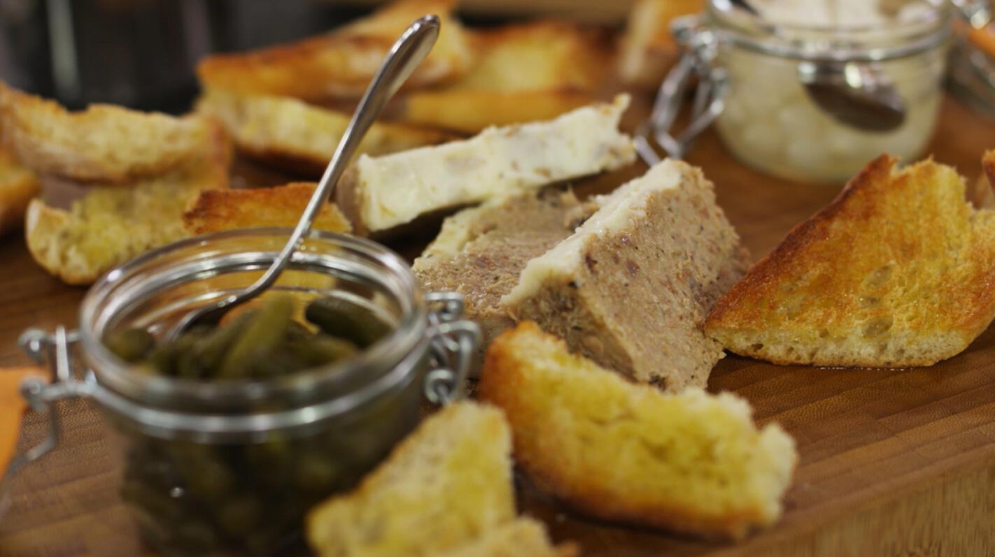 Varkensrillettes met toast