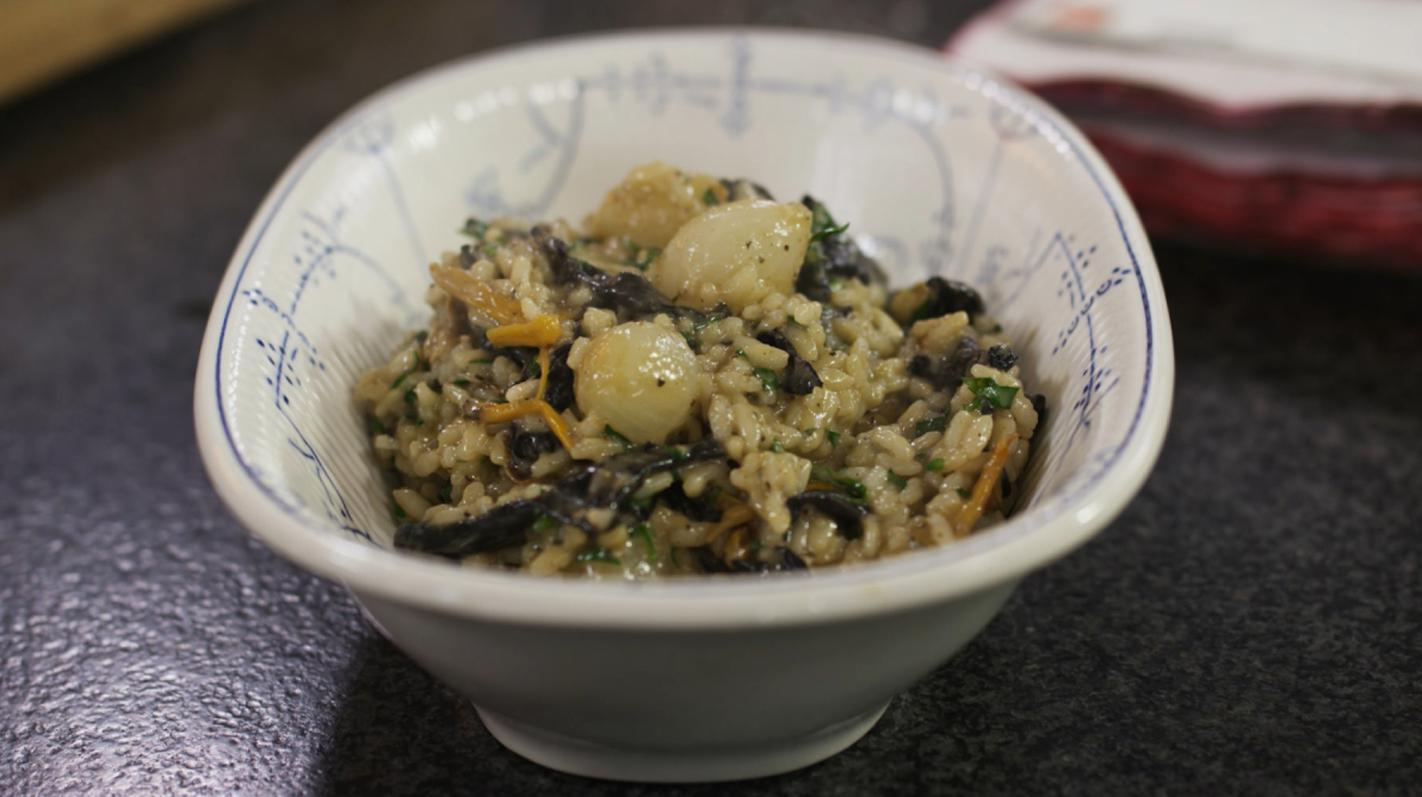 risotto met boschampignons