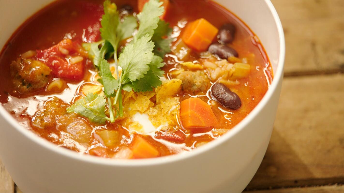 Chili con carne soep