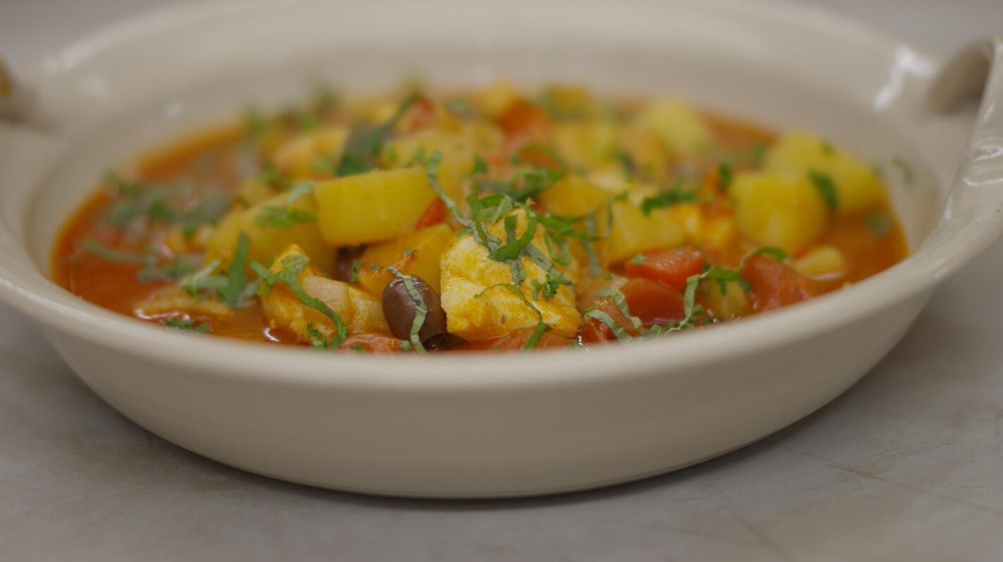 Zeeduivel in een stoofpot 'à la provençale'