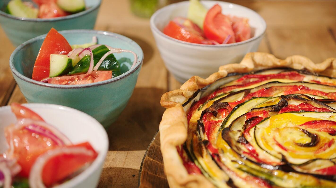 Groentetaart met 'gekke' groenten