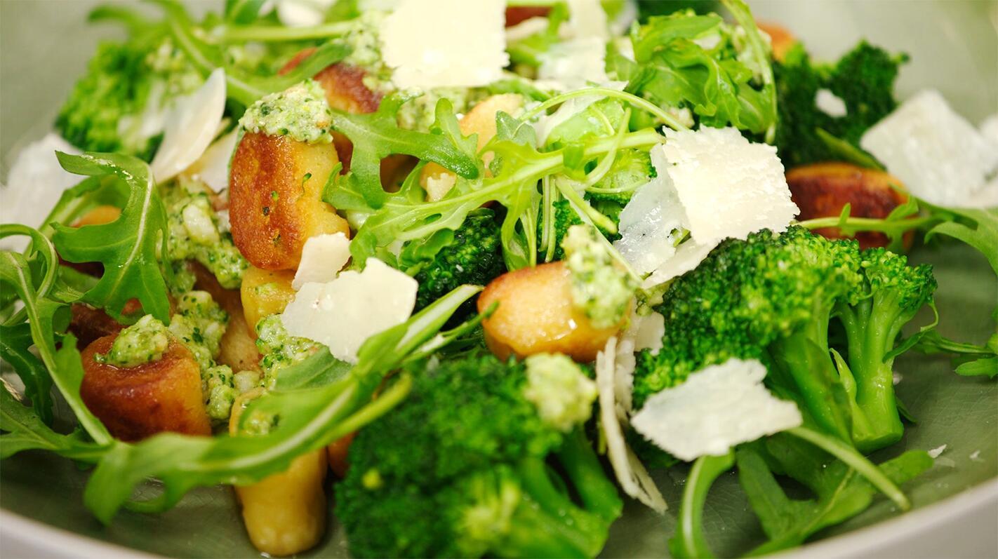 Gnocchi van aardappel met broccolipesto