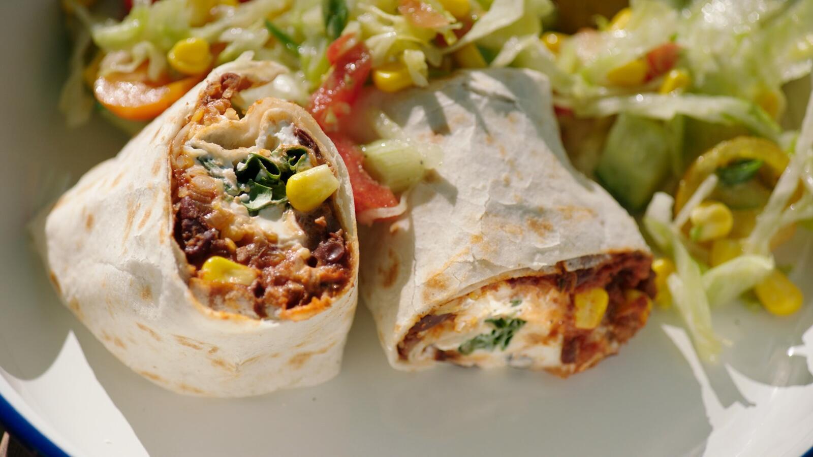 Burrito met chili con carne