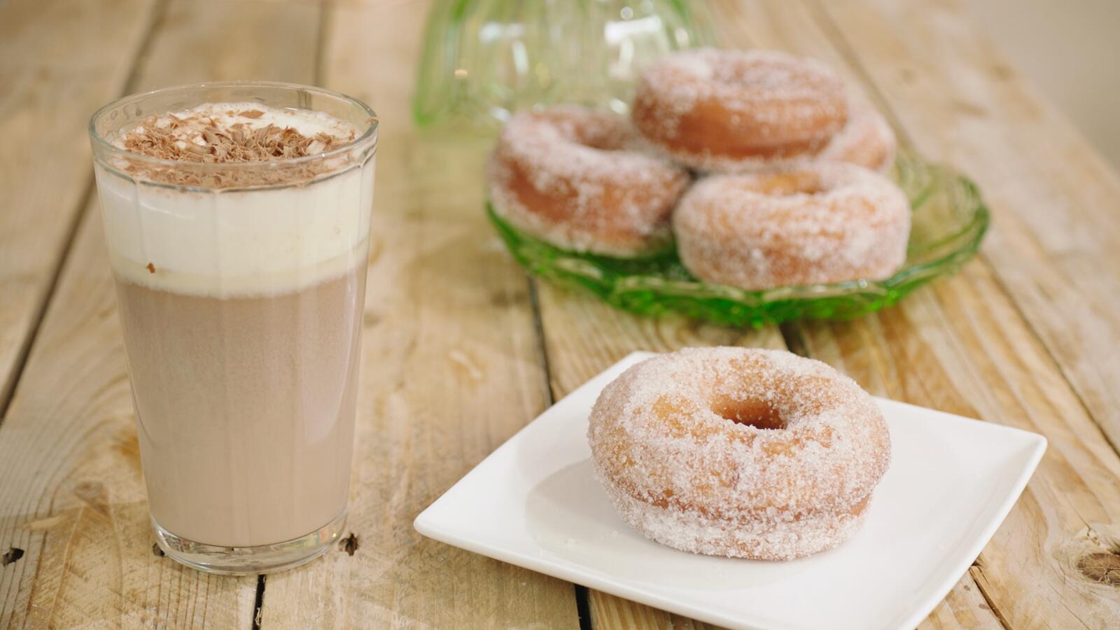 Doughnut met chococino