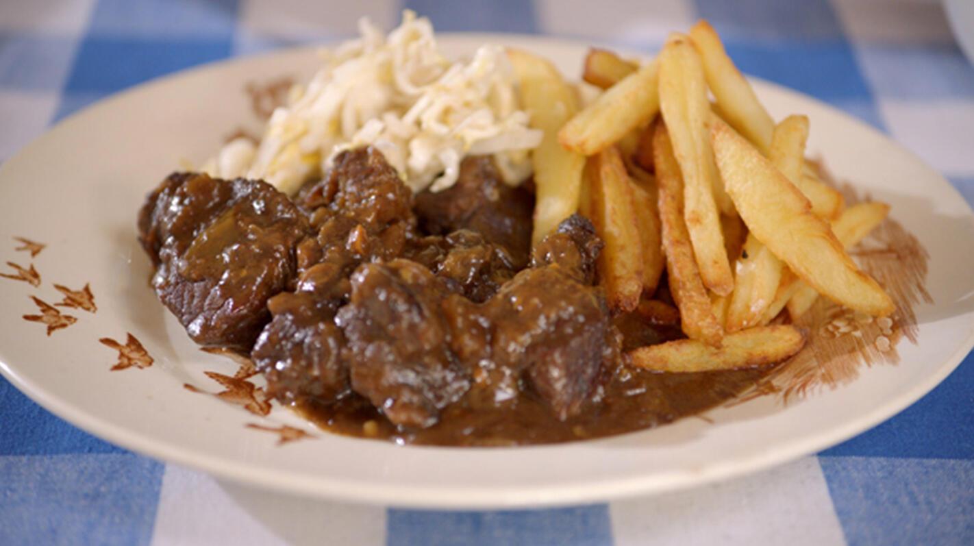Stoofvlees-friet
