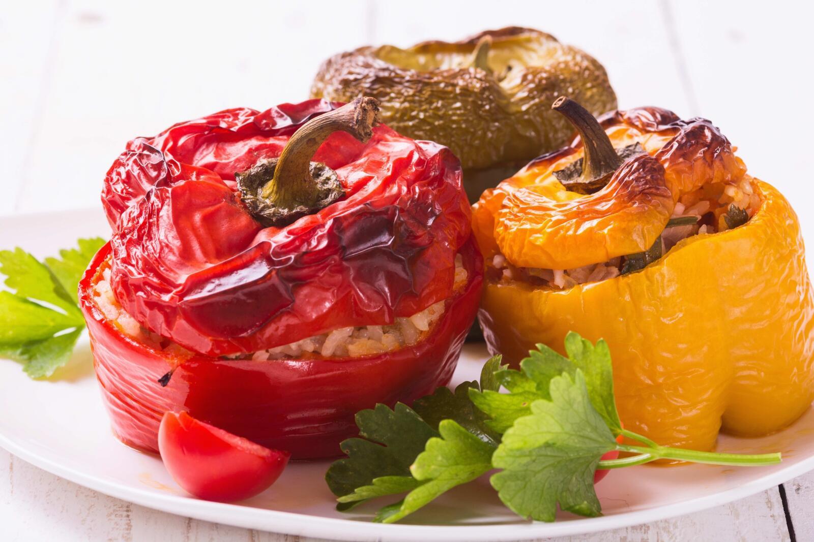 dagelijkse kost gevulde paprika