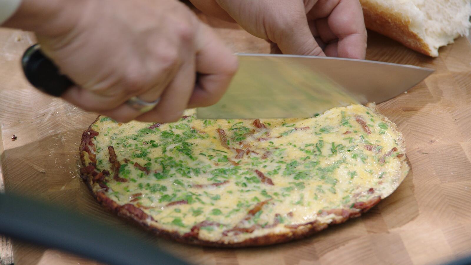 Picknick met makreelsalade en omelet