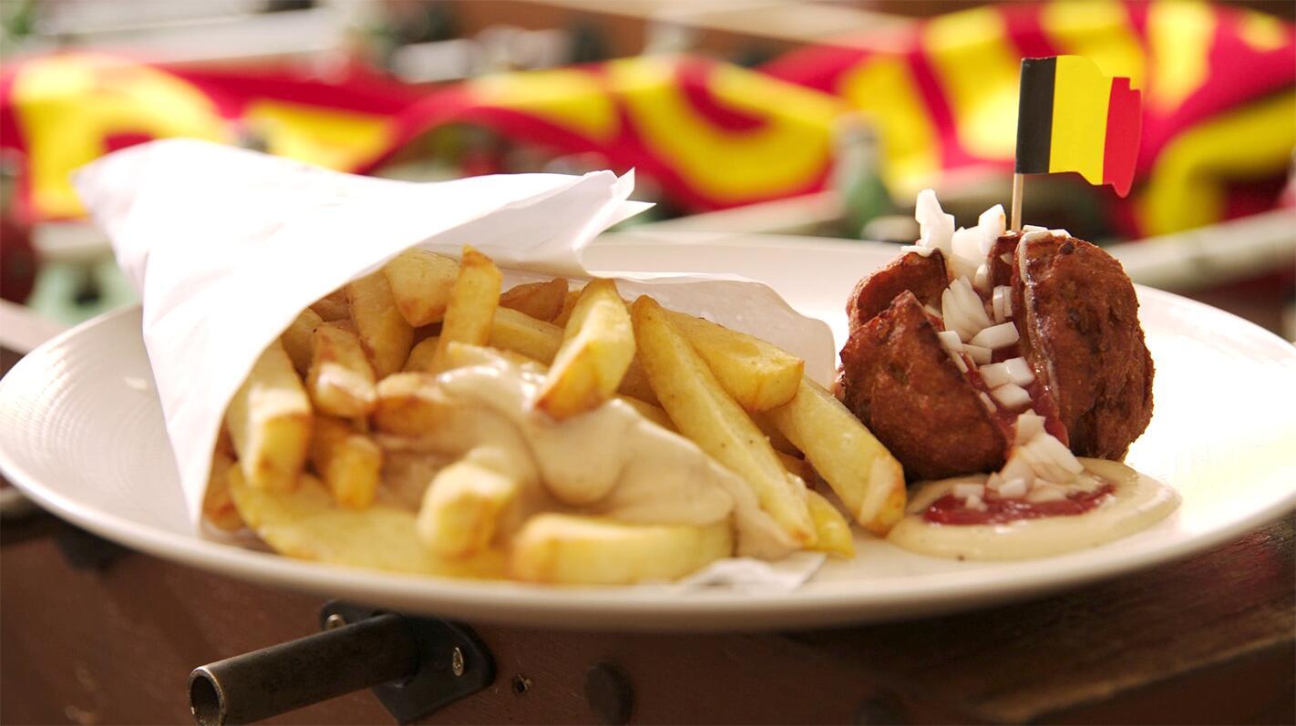 Echte Belgische frieten met boulet special