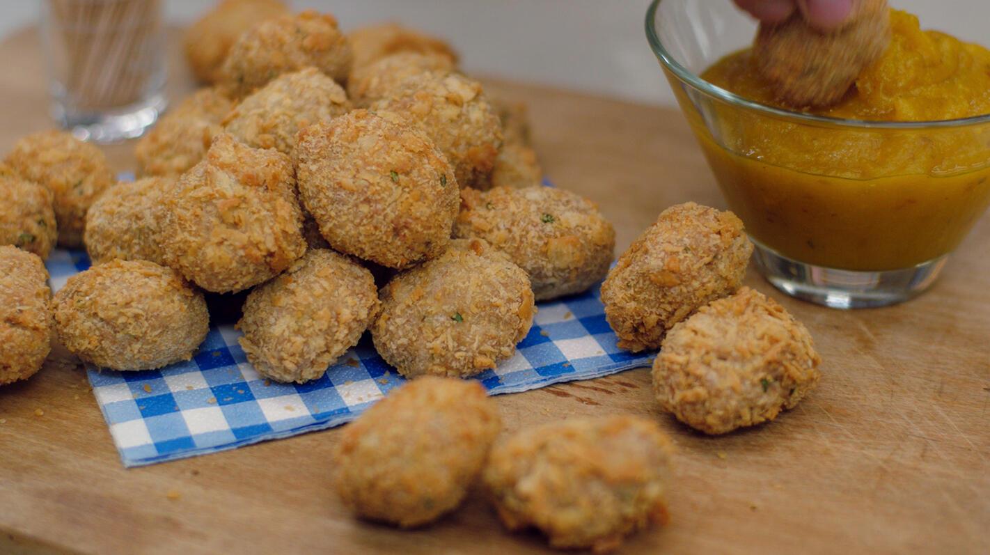 Chicken nuggets met appel-curryketchup