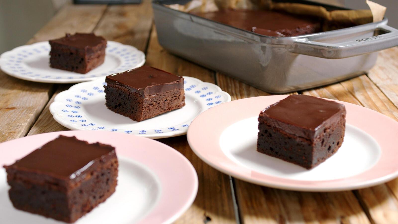 Mokka brownie met koffieganache
