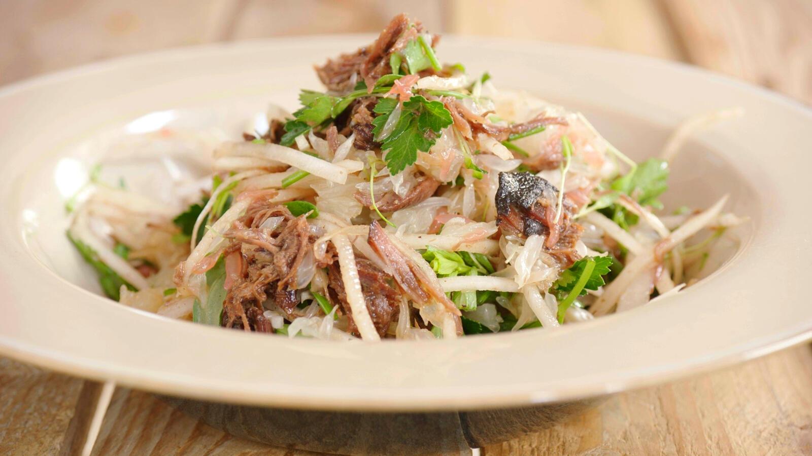 Lauwe salade met eend
