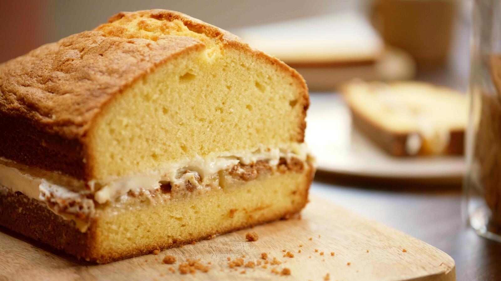 Cake met appel, mascarpone en speculaas