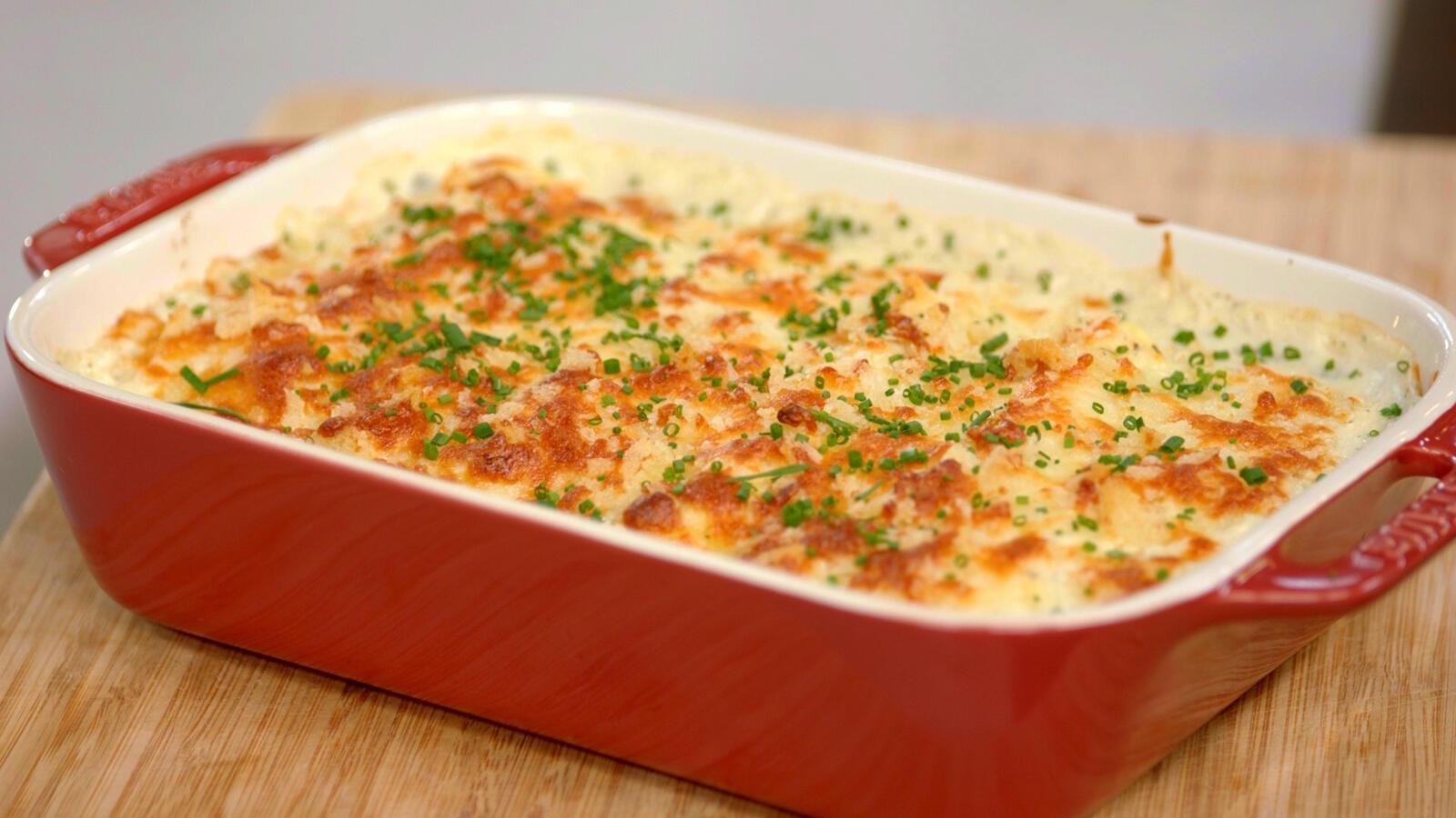 Cannelloni met gerookte zalm, asperges en spinazie