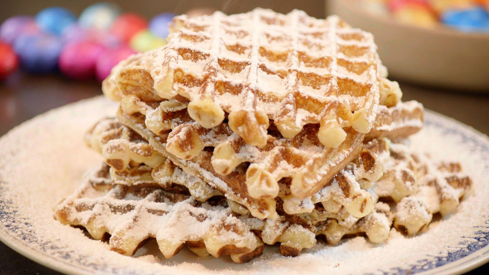 Vlaamse wafels met vanilleshake
