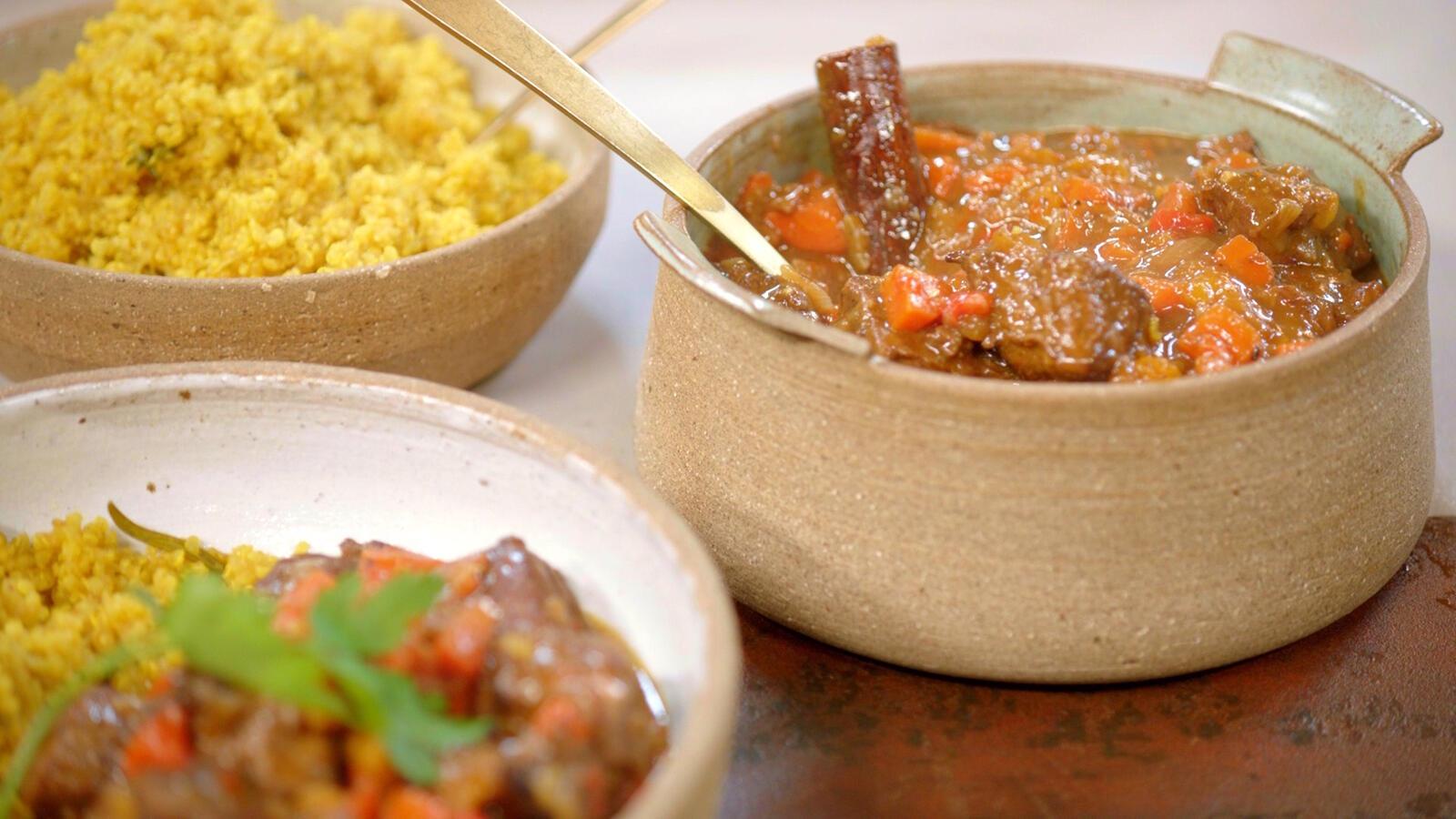 Stoofvlees met sinaasappel en quinoa