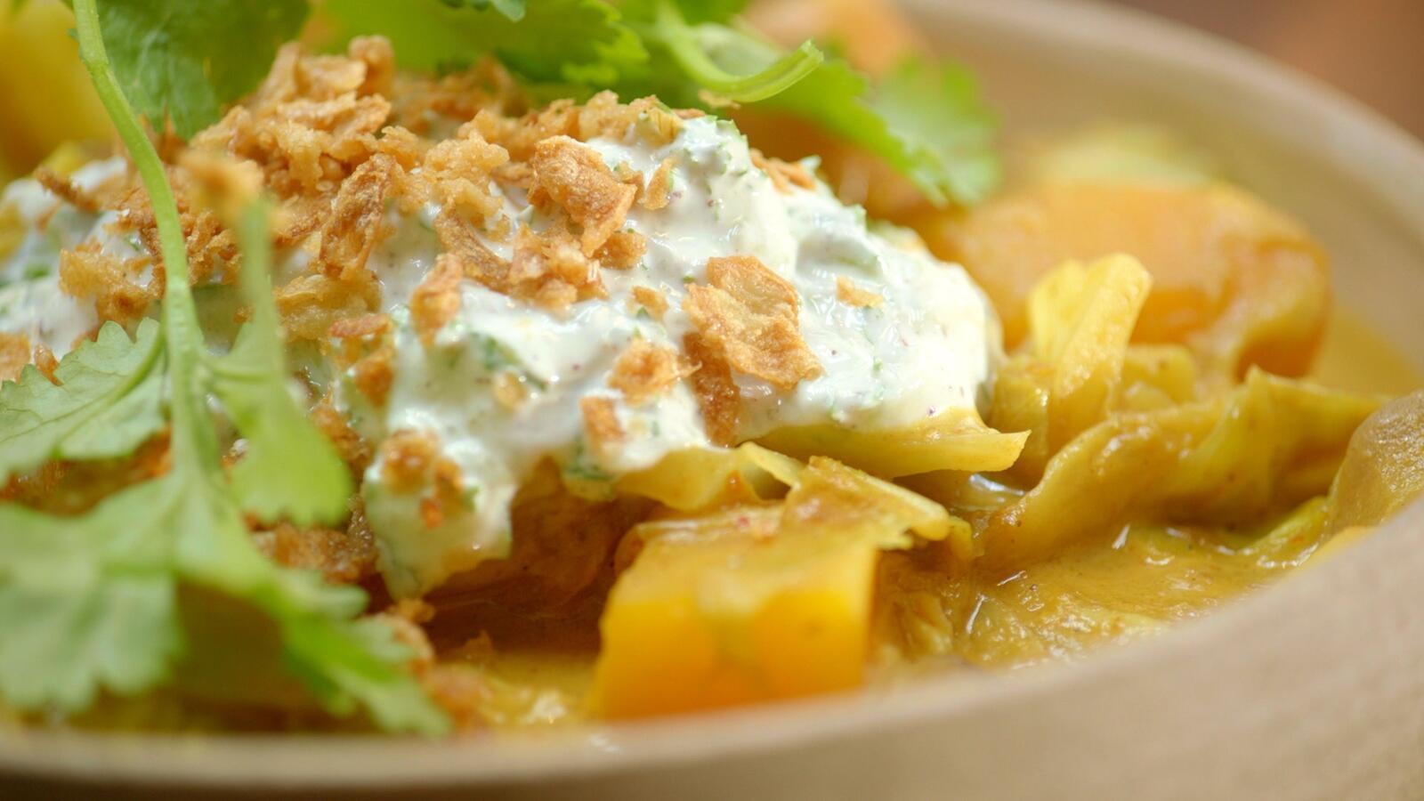 Aardappelcurry met raita