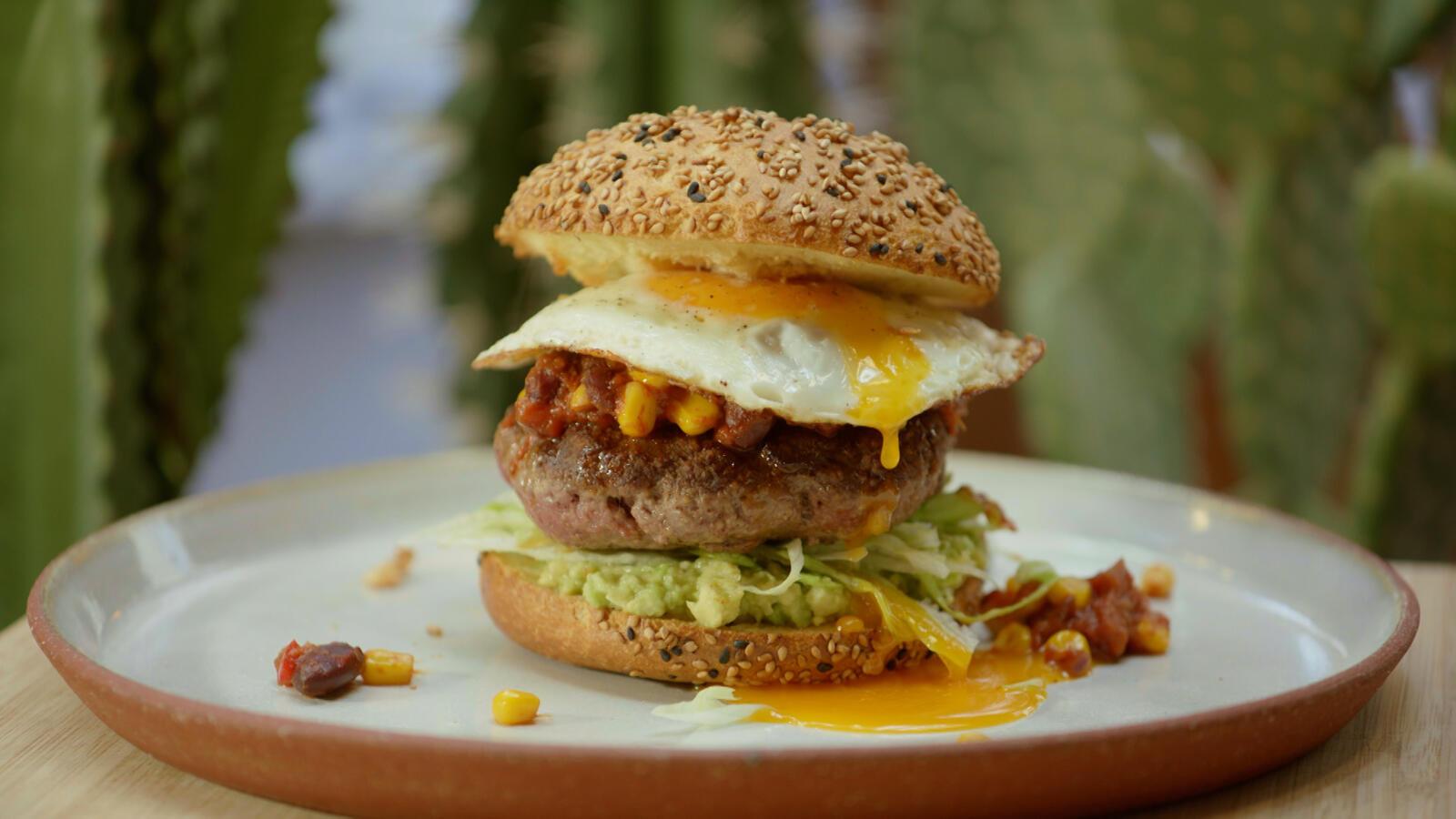 Chili con carne burger