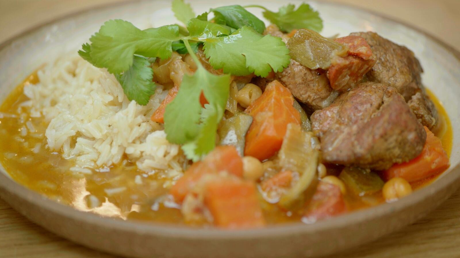 Lamsstoofpot met rijst
