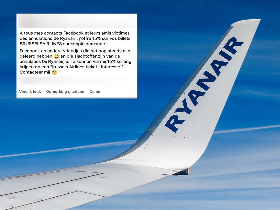 Personeel Brussels Airlines helpt gedupeerden van Ryanair uit de nood
