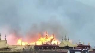 Eeuwenoud boeddhistisch klooster in Lhasa getroffen door brand