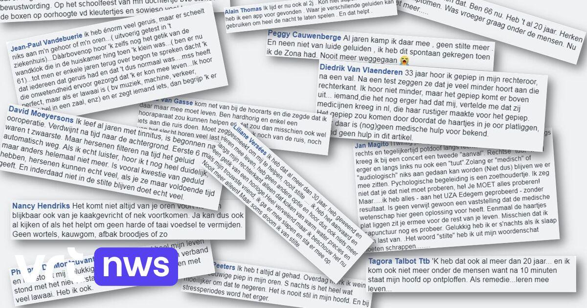 Ik Droom Van Stilte En De Tuut Wordt Steeds Erger Honderden Reacties Op Tinnitus Artikel Maar Hoe Ermee Omgaan Vrt Nws Nieuws