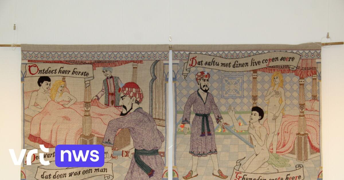 Poperinge ladies embroider medieval epic's sauciest scenes